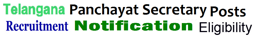 Telangana Jr Panchayat Secretary Recruitment 2019 Apply Online