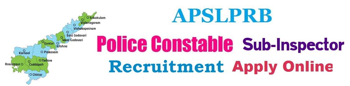 APSLPRB Police Constable & SI Recruitment 2018