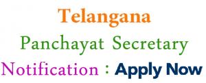 TSPRI Junior Panchayat Secretary Recruitment 2018