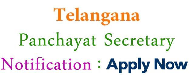 Telangana Jr Panchayat Secretary Recruitment 2018 Apply Online