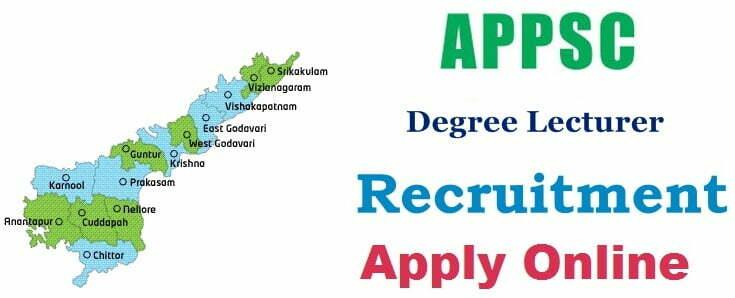 APPSC Degree Lecturer Recruitment 2018 Apply Online