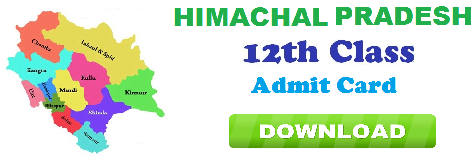 HPBOSE 12th class Exam Seat Number Slip 2021