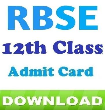 Rajasthan Ajmer Board 12th Class Admit Card 2019