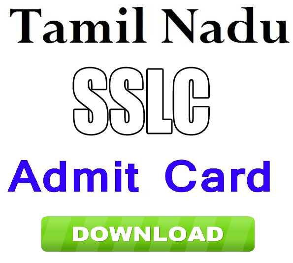 TN SSLC Hall Tickets 2019