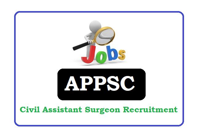APPSC Civil Assistant Surgeon (CAS) Recruitment 2019 Apply Online, APPSC Civil Assistant Surgeon Recruitment 2019 Apply Online