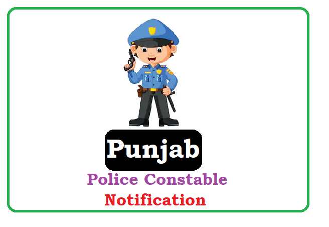 Punjab Police Constable Recruitment 2020, Punjab Police Constable Notification 2020
