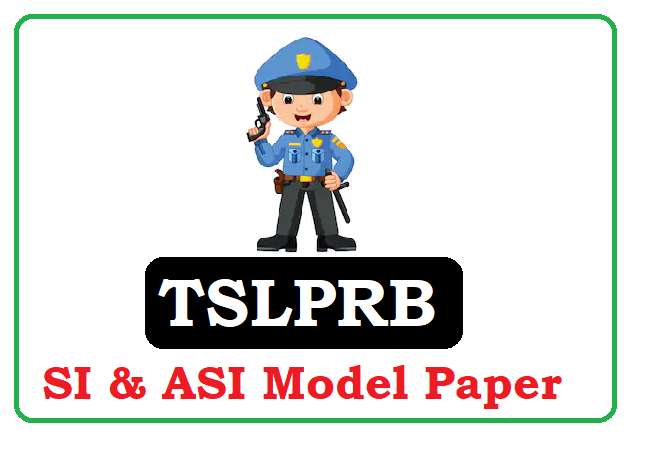Telangana Sub Inspector Model Paper 2020