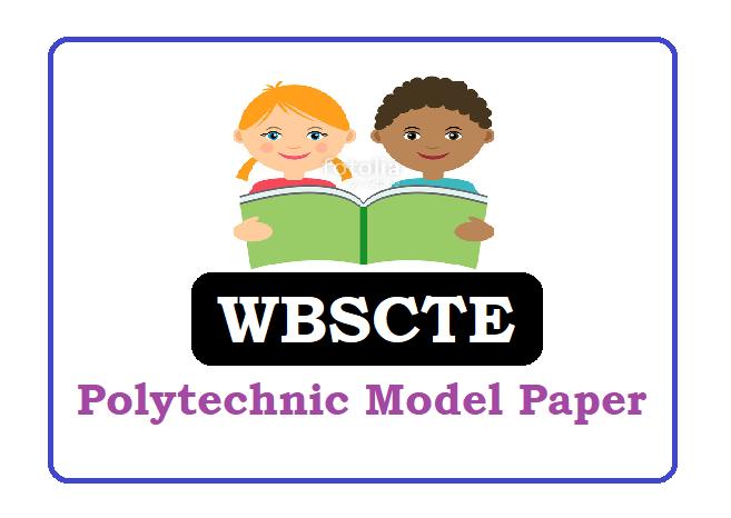 WBSCTE Polytechnic Model Paper 2020, WBSCTE Polytechnic Question Paper 2020