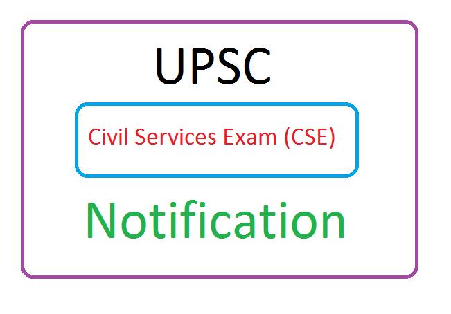 UPSC Civil Services Exam (CSE) Notification 2020 Apply Online, UPSC Civil Services Exam (CSE) Recruitment 2020 Apply Online