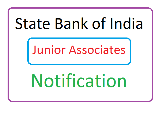 SBI Jr Associates Recruitment 2020, SBI Jr Associates Notification 2020