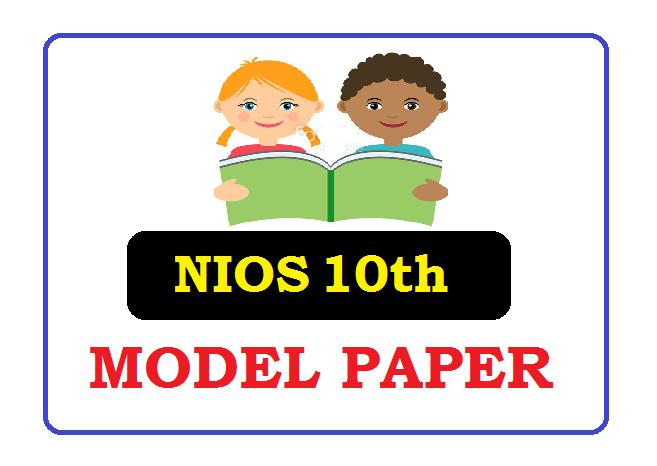 NIOS 10th Model Paper 2020