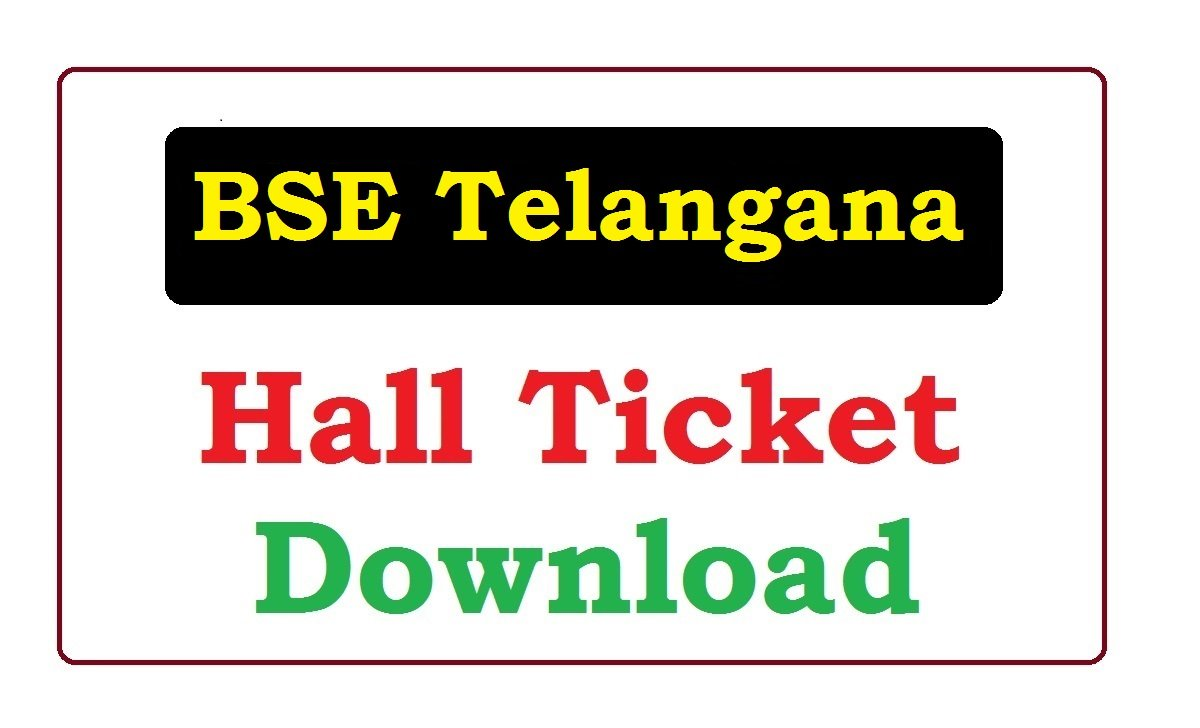 BSE Telangana 10th Hall Ticket 2020