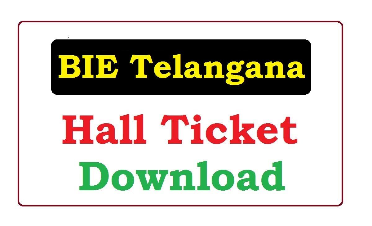 BIE Telangana Inter 2nd Year Hall Ticket 2020